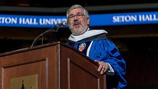 Image of Bob Ley from the Seton Hall 2019 undergraduate commencement.