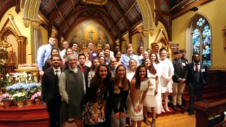 RCIA students in the chapel.
