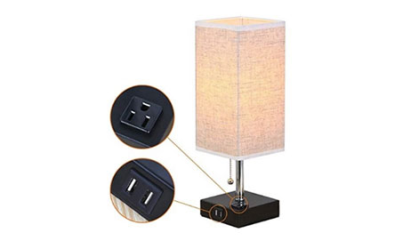 Lamp with built-in USB