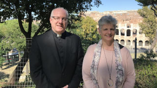 Monsignor Joseph Reilly and Dr. Dianne Traflet portrait